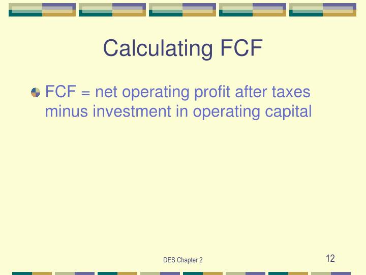Calculating FCF