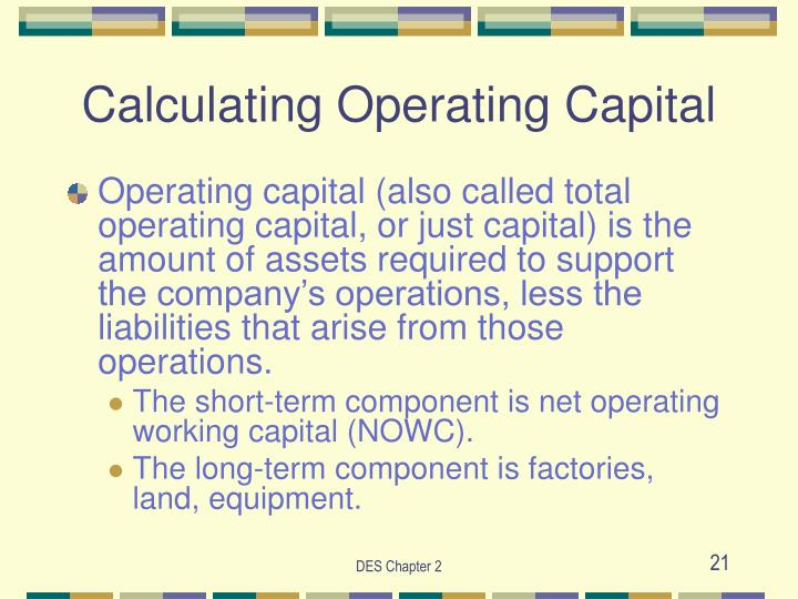 Calculating Operating Capital