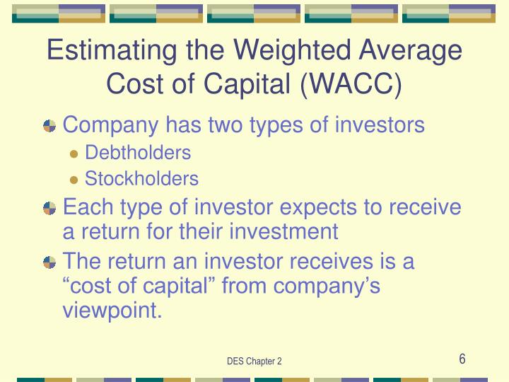 Estimating the Weighted Average Cost of Capital (WACC)