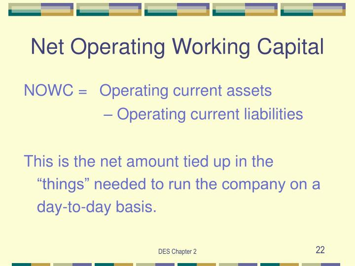 Net Operating Working Capital
