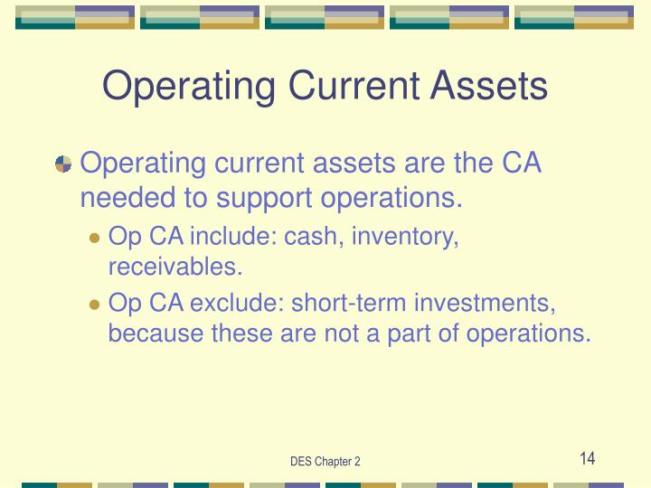 Operating Current Assets