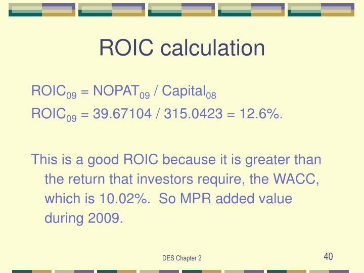 ROIC calculation