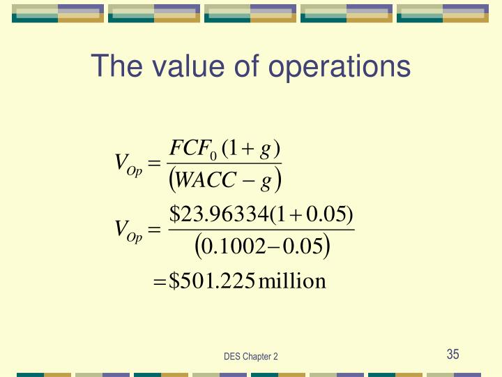 The value of operations