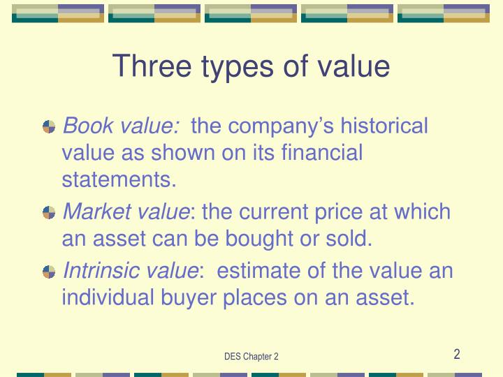 Three types of value