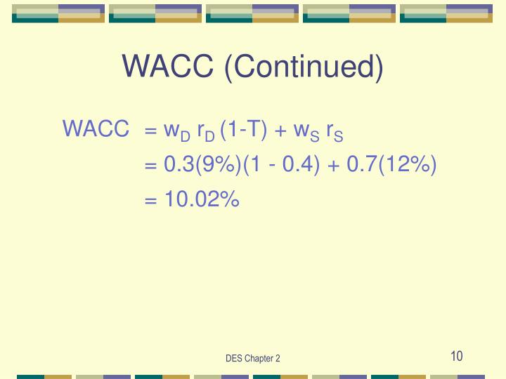 WACC (Continued)
