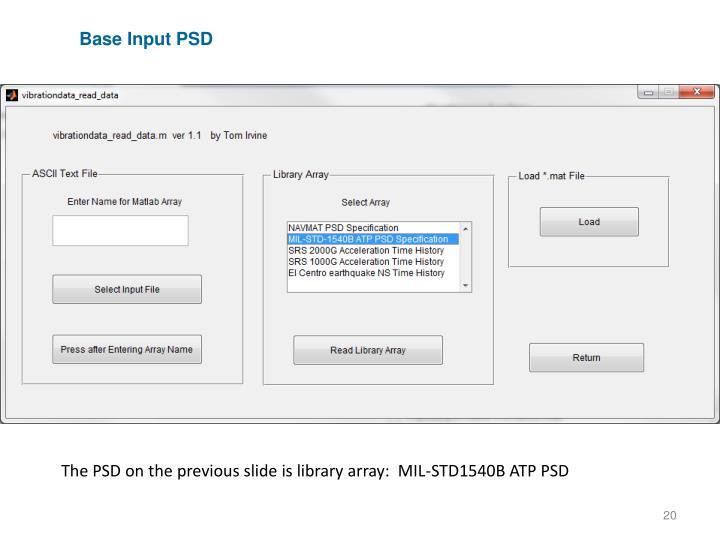 Base Input PSD