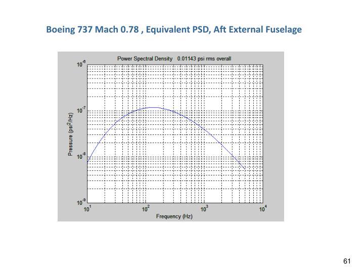 Boeing 737 Mach 0.78 , Equivalent PSD, Aft External Fuselage