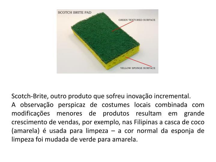 Scotch-Brite, outro produto que sofreu inovação incremental.