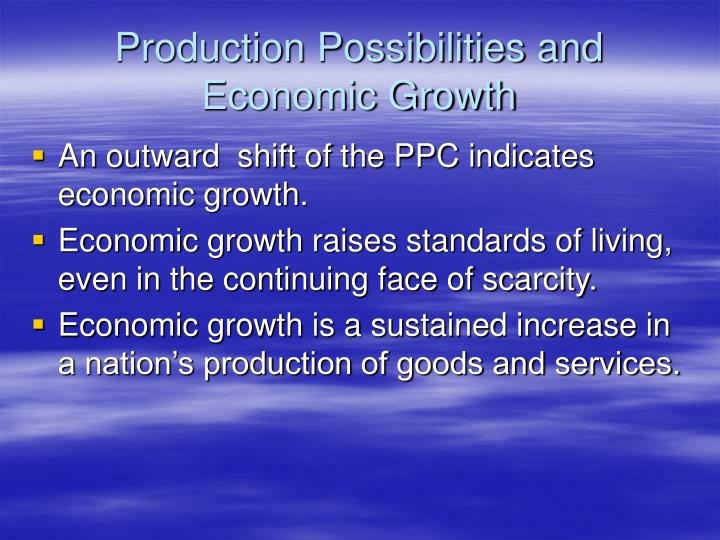 Production Possibilities and Economic Growth