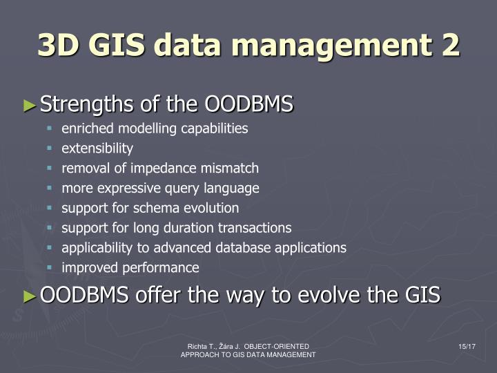 3D GIS data management