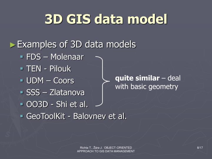3D GIS data model