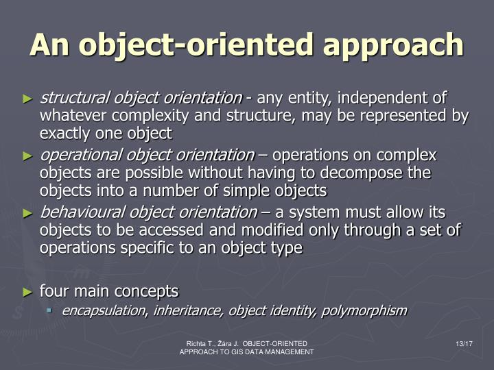 An object-oriented approach