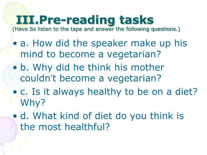 Pre-reading tasks