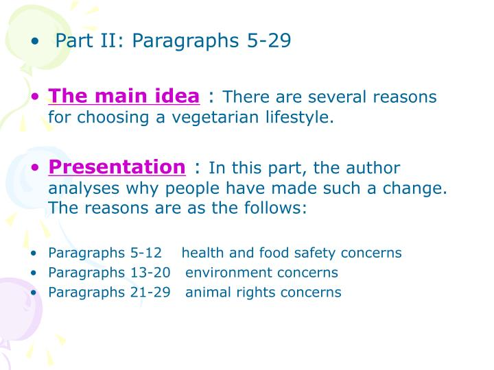Part II: Paragraphs 5-29