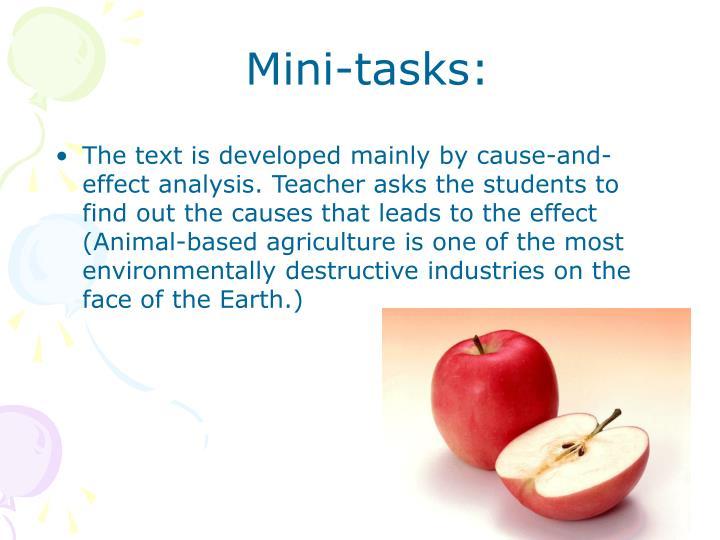 Mini-tasks: