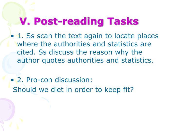 V. Post-reading Tasks