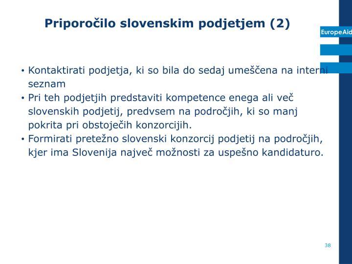 Priporočilo slovenskim podjetjem (2)