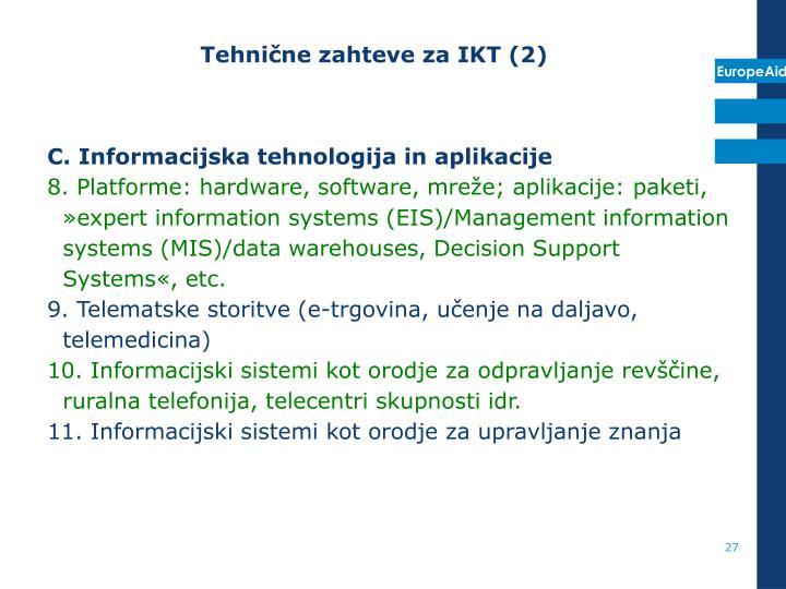 Tehnične zahteve za IKT (2)