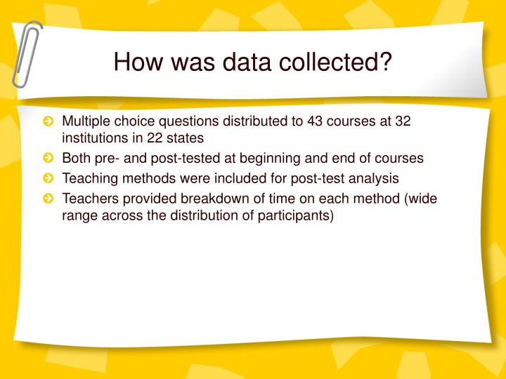 How was data collected?