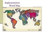 implementation world map