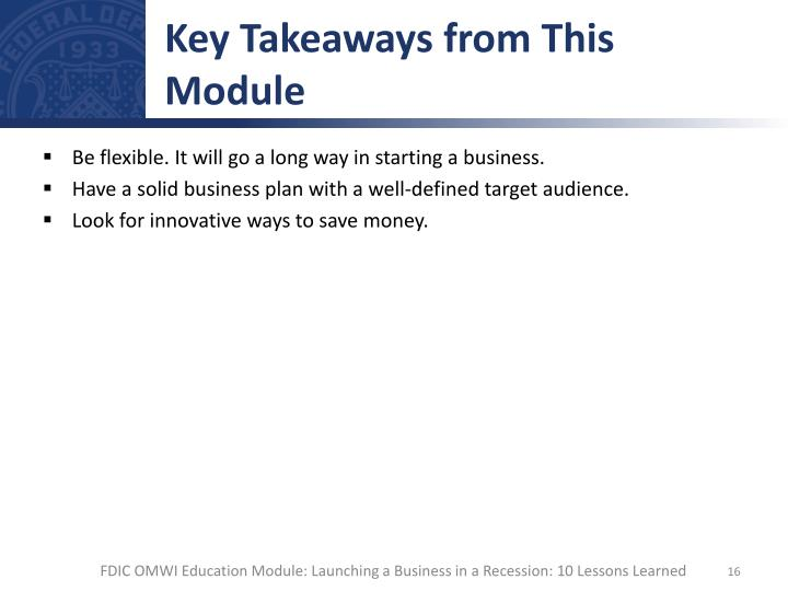 Key Takeaways from This Module
