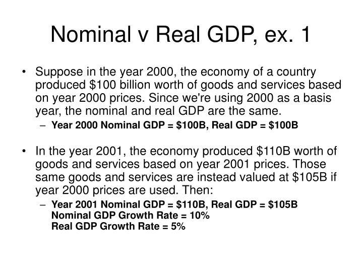 Nominal v Real GDP, ex. 1