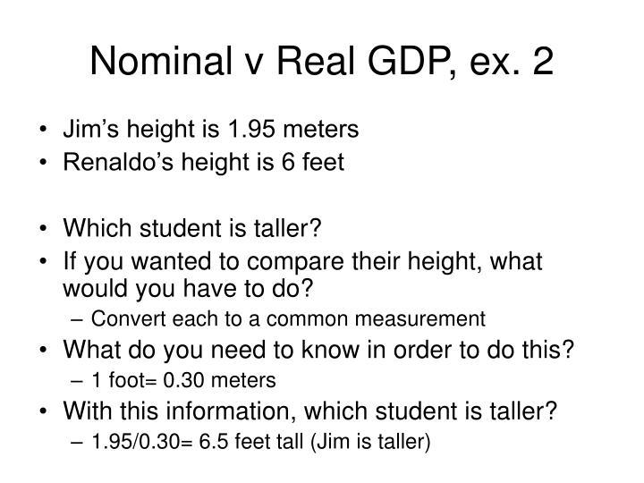 Nominal v Real GDP, ex. 2