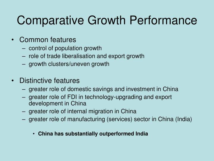Comparative Growth Performance