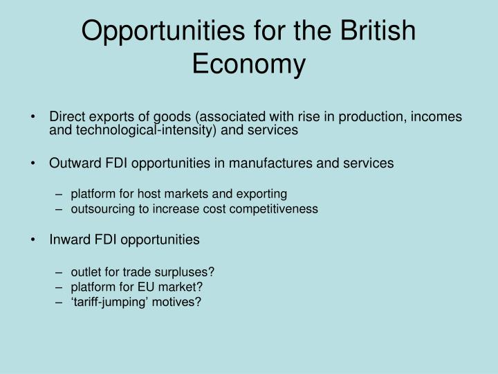 Opportunities for the British Economy