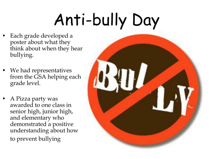 Anti bully day