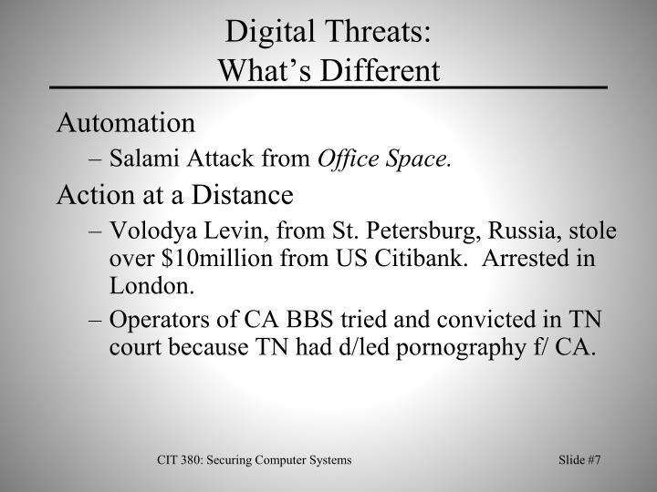 Digital Threats: