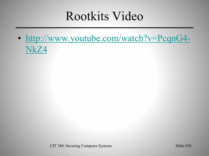 Rootkits Video