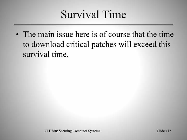 Survival Time