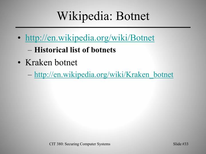Wikipedia: Botnet