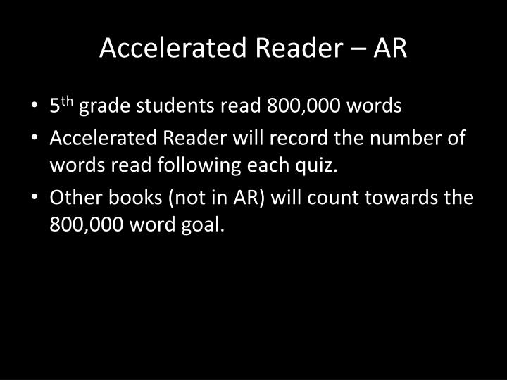 Accelerated Reader –