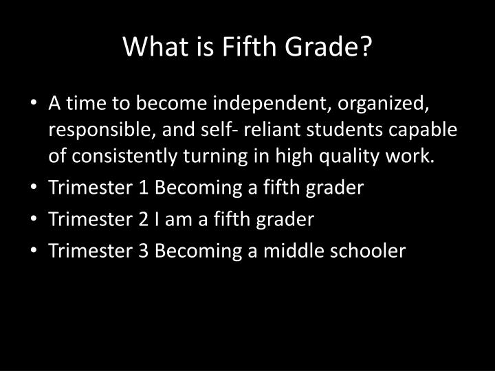 What is Fifth Grade?