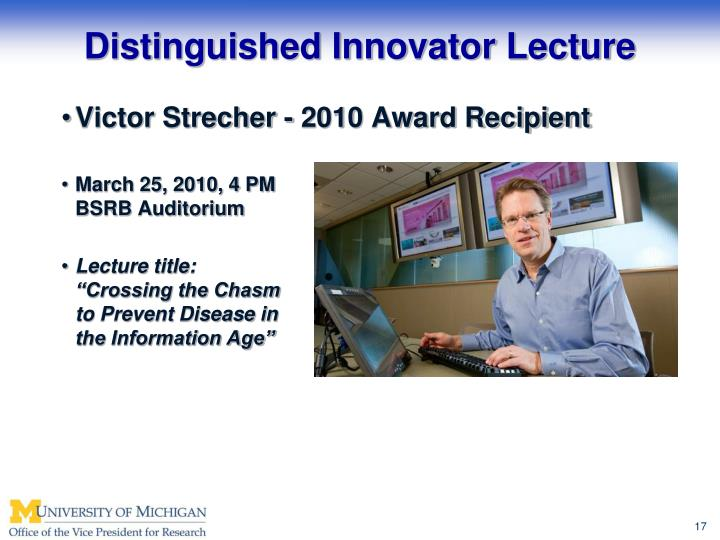 Distinguished Innovator Lecture