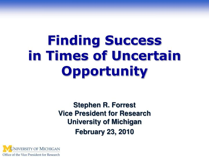 Finding Success