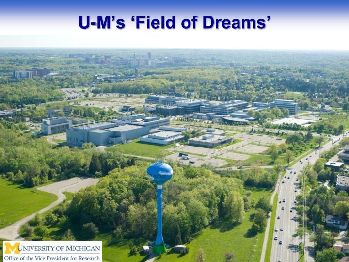 U-M's 'Field of Dreams'