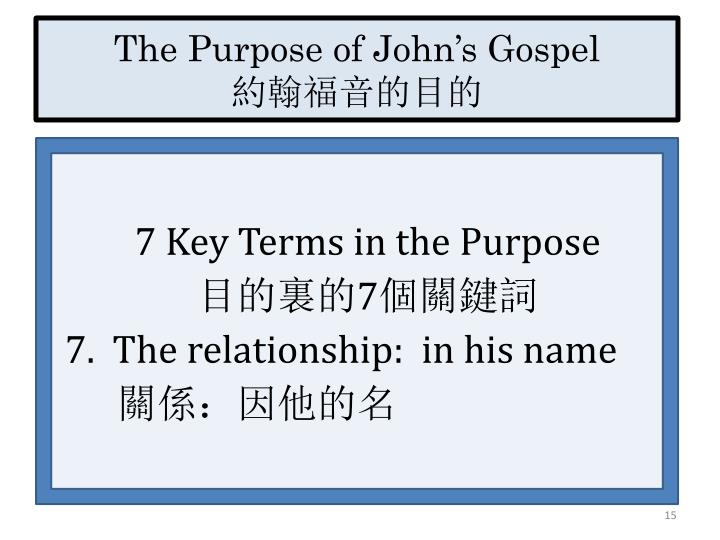 The Purpose of John's Gospel