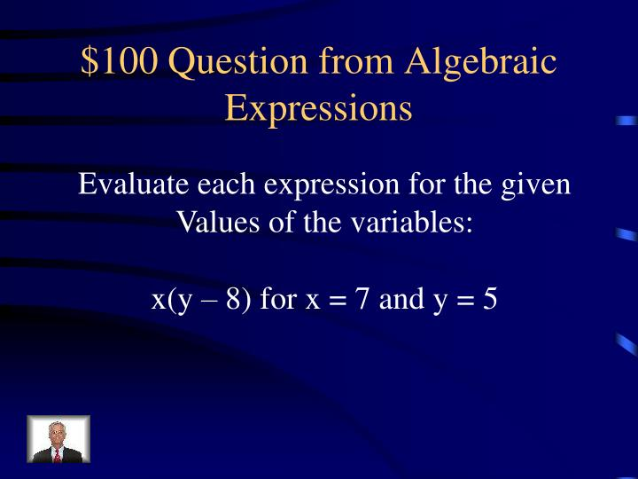 100 question from algebraic expressions