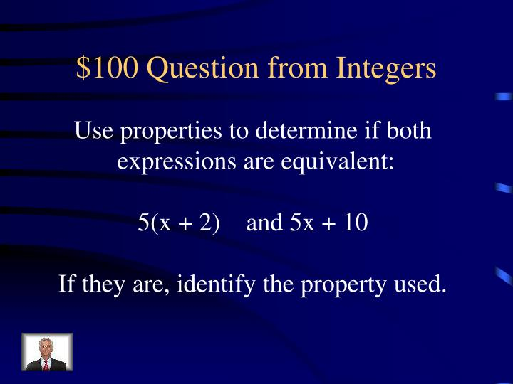 $100 Question from Integers