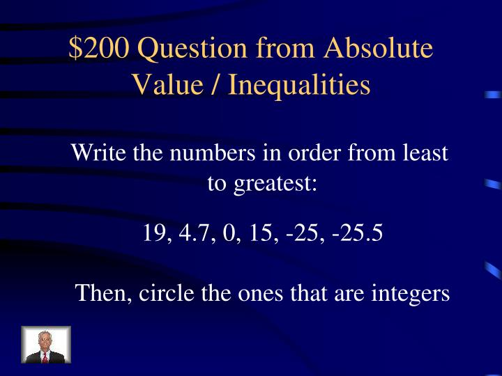 $200 Question from Absolute Value / Inequalities