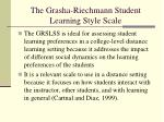 the grasha riechmann student learning style scale