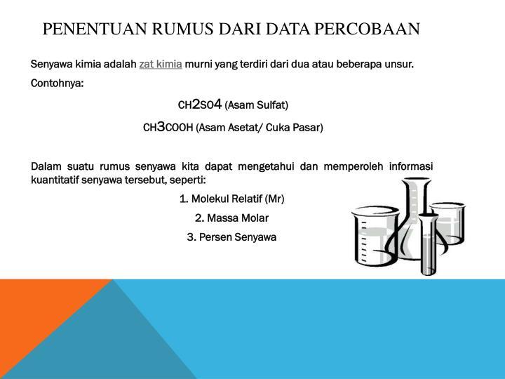 Penentuan Rumus Dari Data Percobaan