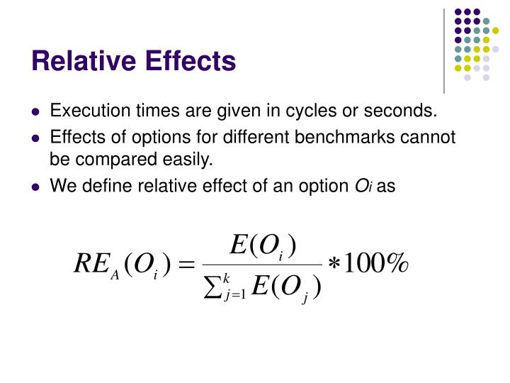 Relative Effects