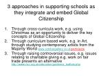 3 approaches in supporting schools as they integrate and embed global citizenship