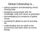 global citizenship is