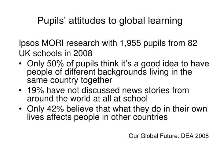 Pupils' attitudes to global learning