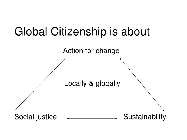 Global Citizenship is about